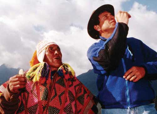 Shaman Don Manuel Quispe and Alberto Villoldo